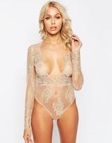 Asos Lana Delicate Lace Plunge Bodysuit