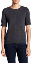 Susina Short Sleeve Pocket Cashmere Sweater (Petite)