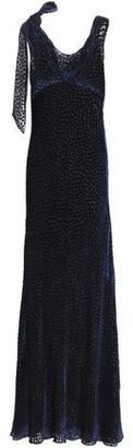 Diane von Furstenberg Bow-detailed Devore-chiffon Gown