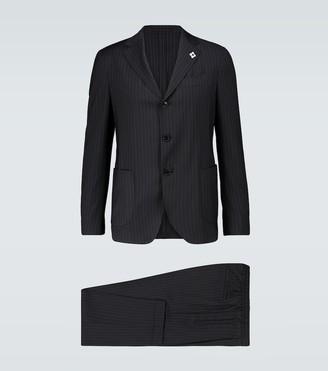 Lardini Easy Wear pinstriped travel suit