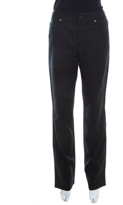 Escada Black Stretch Denim High Rise Straight Leg Tessa Jeans M