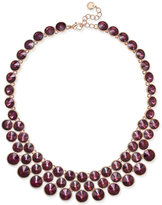 Charter Club Rose Gold-Tone Crystal Bib Necklace, Only at Macy's