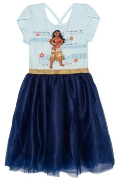 Disney Big Girls Moana Short Sleeve Tutu Dress