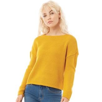 Only Womens Lexi Long Sleeve Knit Jumper Golden Yellow