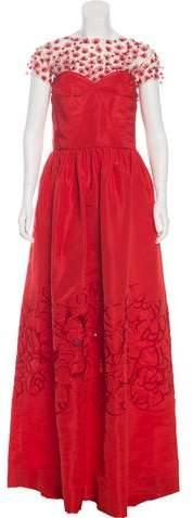 Oscar de la Renta 2016 Embellished Silk Gown w/ Tags