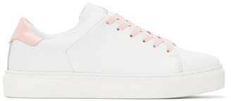 Joshua Sanders White and Pink Square Toe Sneakers
