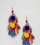 Glamorous Tassel Drop Statement Earrings (+)