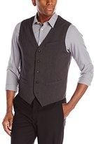 Perry Ellis Men's Fine Stripe 5 Button Vest