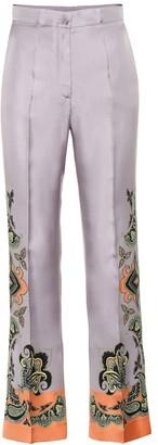 Etro Printed silk pants