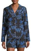Stella McCartney Poppy Snoozing Shorts Silk-Blend Pajama Set, Red Hearts
