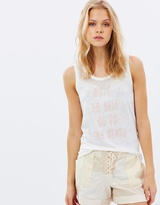 Maison Scotch Burnout Tank With Beach Inspire