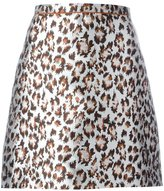 Christopher Kane mini leopard skirt - women - Silk/Viscose - 40