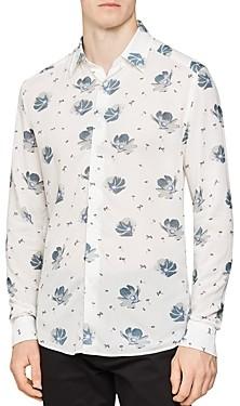 Reiss Phoenix Floral Slim Fit Button-Down Shirt