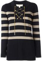 MICHAEL Michael Kors striped jumper - women - Cotton/Viscose - L