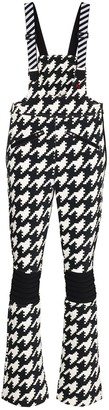 Perfect Moment Houndstooth Print Ski Overalls
