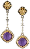 Konstantino Erato Amethyst Doublet Dangle Earrings