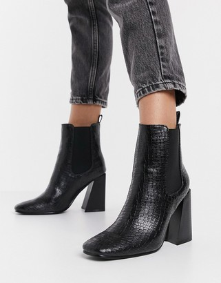 Schuh Bonnie heeled ankle boots in black
