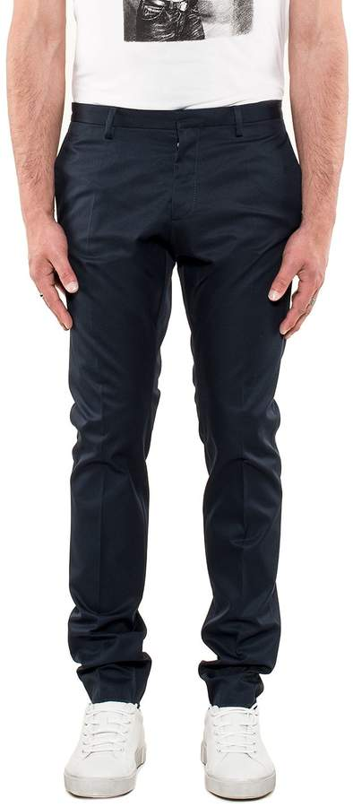 DSQUARED2 Blue Gabardine Trousers
