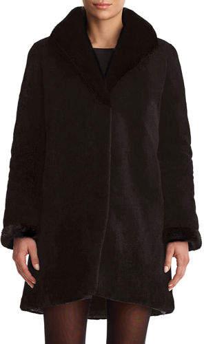 Gorski Sheared Mink Reversible Stroller Coat