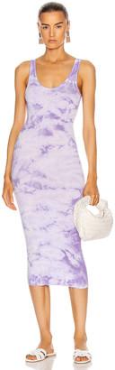 Enza Costa Rib Tank Midi Dress in Lavender Ionic | FWRD