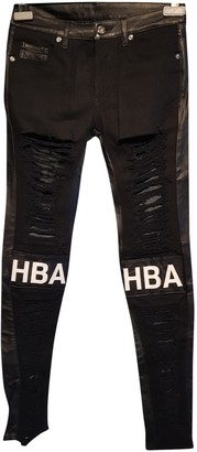 Hood by Air Black Leather Trousers