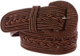 Oscar de la Renta Braided Embroidered Belt
