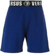 Versus logo waistband sweatshorts - men - Cotton/Polyamide/Polyester/Spandex/Elastane - S