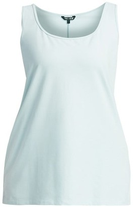NIC+ZOE, Plus Size Perfect Scoop Stretch Cotton Tank Top