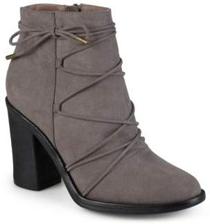 Brinley Co. Women's High Heeled Round Toe Chunky Heel Booties