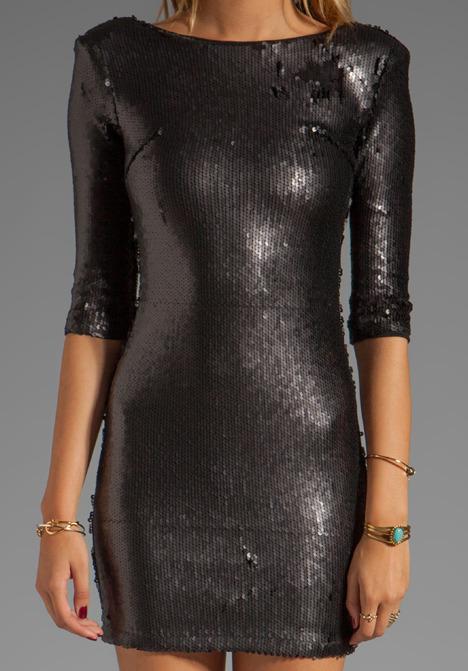 Blaque Label Scooped Back Sequined Dress