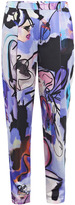 Giles girls illustrated silk trousers