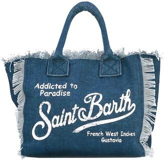 MC2 Saint Barth Indigo Canvas Bag