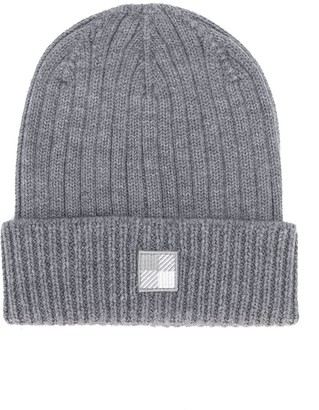 Woolrich Kids Ribbed Knit Beanie