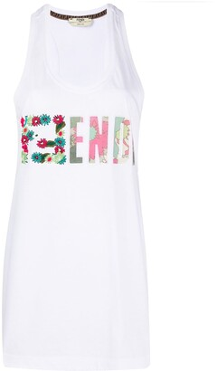 Fendi embroidered FF motif tank top