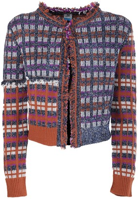 M Missoni patterned lame jacket