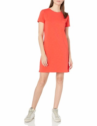Goodthreads Amazon Brand Women's Heavyweight Cotton Slub T-Shirt Pocket Dress