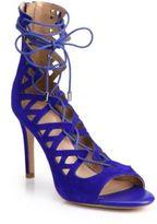 Joie Quinn Suede Lace-Up Sandals