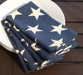Pottery Barn American Flag Napkin, Set of 4