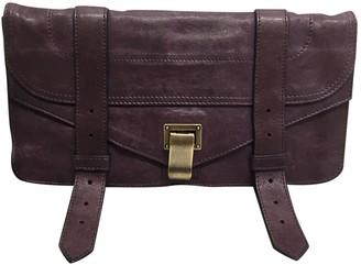 Proenza Schouler PS1 Purple Leather Clutch bags