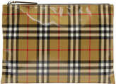 Burberry Tan Small Vintage Check Pouch