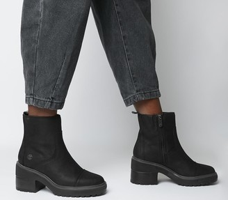 Timberland Silver Blossom Side Zip Boots Black
