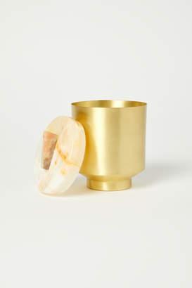 Tique Stone Lavendar Sage Onyx Brass Candle