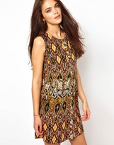 River Island Sleeveless Tribal Print Smock Dress