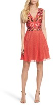French Connection Women's Lace Fit & Flare Dress