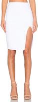 Donna Mizani Side Slit Midi Skirt