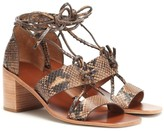 Thumbnail for your product : Zimmermann Snake-effect leather sandals