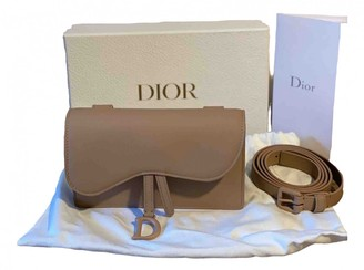 Christian Dior Saddle Pink Leather Clutch bags