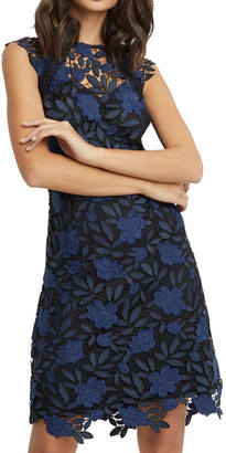 Lipsy Navy Embroidered Corset