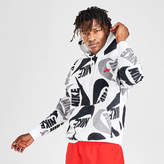 Nike Men's Sportswear Allover Print Club Fleece Hoodie