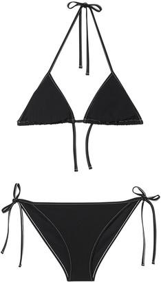 Burberry Logo Detail Triangle Bikini